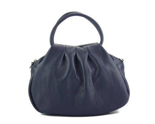dark blue handbag Nikoleta from leather from italy for women