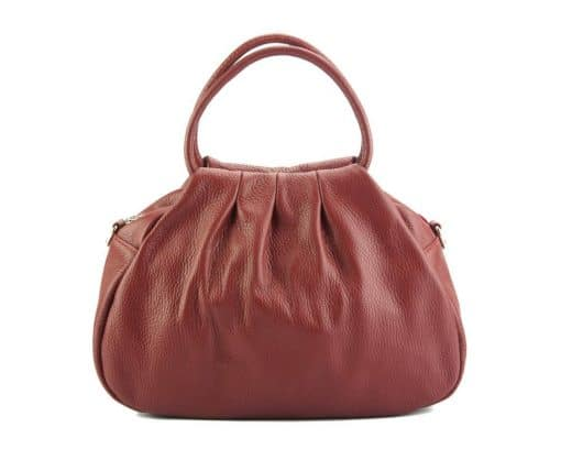 dark red handbag Nikoleta from leather from italy for women