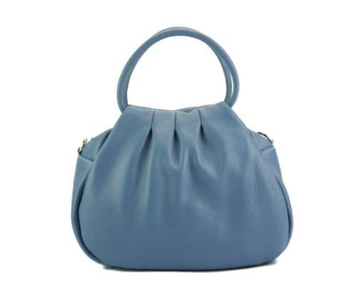 light cyan handbag Nikoleta from leather from italy for women