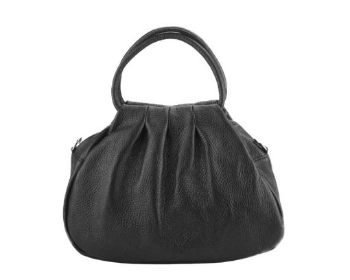 black handbag Nikoleta from leather from italy for women
