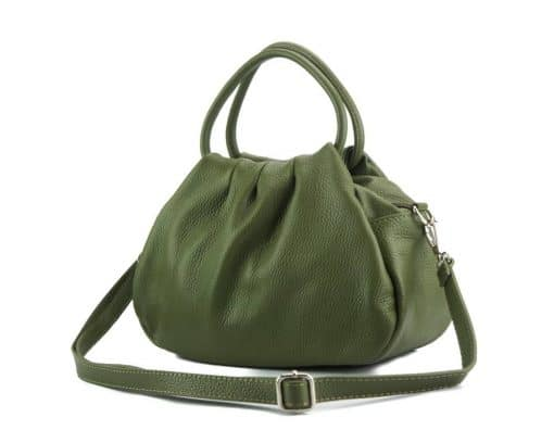 dark green handbag Nikoleta for women