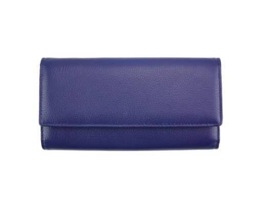 blue wallet Diana from genuine leather for women