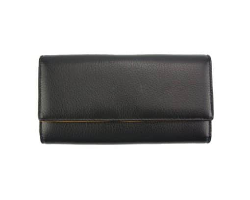 black wallet Diana from genuine leather for women