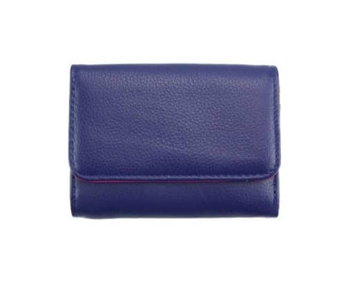 electric blue wallet Filadelfia in leather from italy for women