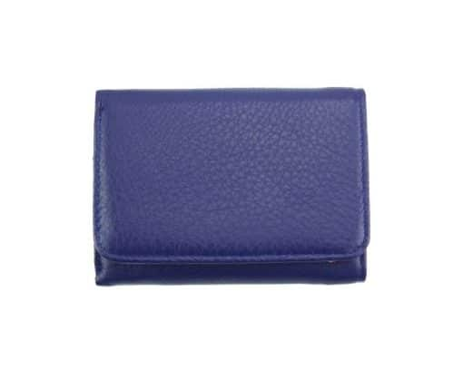blue wallet Filadelfia in leather from italy for women