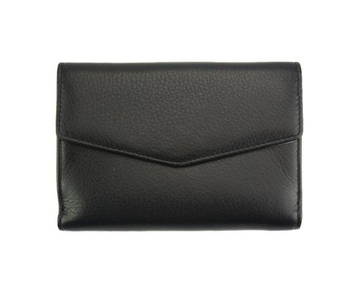 black wallet Isabella in genuine leather from italy for women
