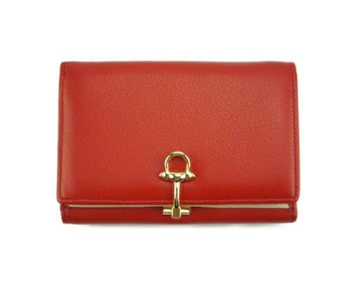 light red wallet Isabella for women