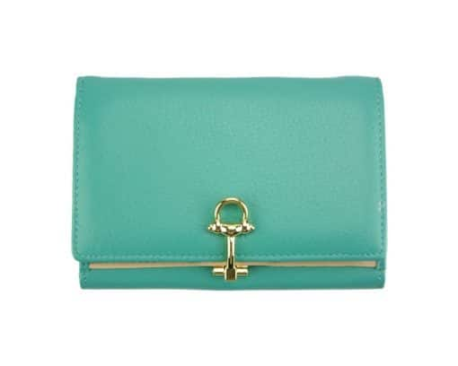 light cyan wallet Isabella for women