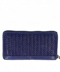 Women's wallet made of genuine woven leather from italy