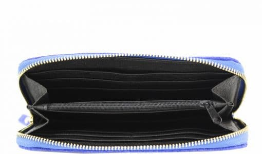 light blue Women's wallet Orlanda in pithone style made of genuine leather from italy