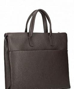 Business bag Cesare from calfskin dark brown last model unisex