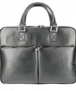 Business bag Mario made of genuine leather black colour last model new design for man