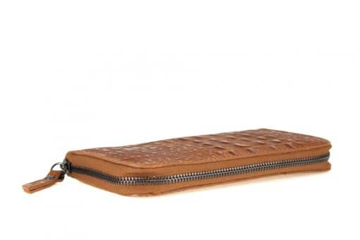 Women's wallet Cira made of genuine leather in crocodile style from italy