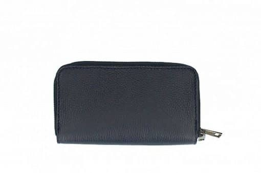 dark blue Women's wallet Poenia made of genuine leather new model from italy