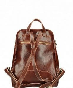 brown Backpack Ziena made of cow leather for women