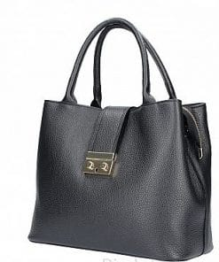 Women's handbag Alissa made of genuine leather black italian moda new design from italy