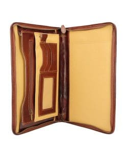 Cow leather document folder Ezio brown colour last model unisex