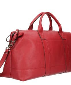 Genuine leather travel bag from italy red colour unisex