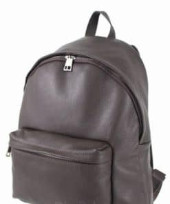 Large unisex backpack Zeno made of genuine leather from italy