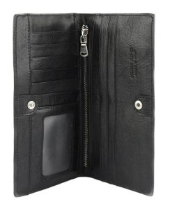 Bernardina Wallet in cow leather black for woman