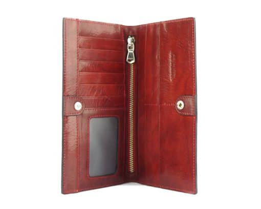 Bernardina Wallet in cow leather brown for woman