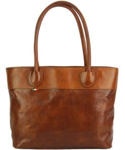Tote Valeria bag in leather tan colour last model for women