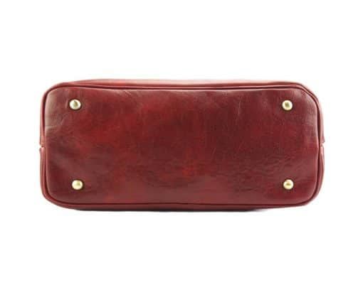Tote Valeria bag in leather red for women