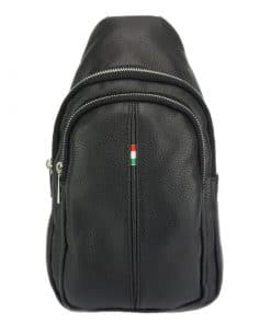Nisula Leather Single backpack black colour last model new design for man