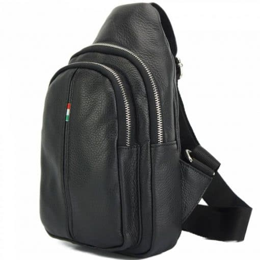 Nisula Leather Single backpack black colour for woman