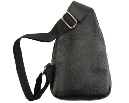 Nisula Leather Single backpack black for woman