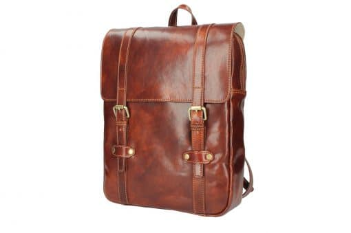 brown Unisex genuine leather backpack Zulio last model italian