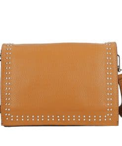 tan colour Shoulder bag Gerda made in leather