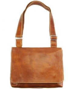 Flap Messenger bag in cow leather Valerio tan colour last model new design for man