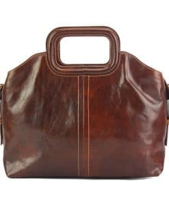 Pierina leather Handbag brown for woman