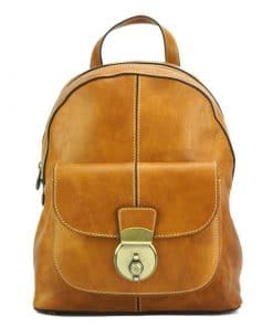 Diego Backpack in cow genuine leather tan colour last model for women