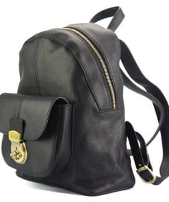Diego Backpack in cow genuine leather black last model for woman