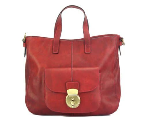 Dominica leather shoulder bag dark red colour italian moda for woman