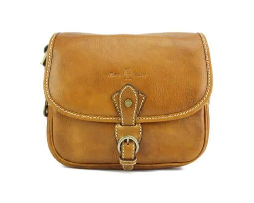 Eleonora leather Cross body bag tan colour from italy new style for woman