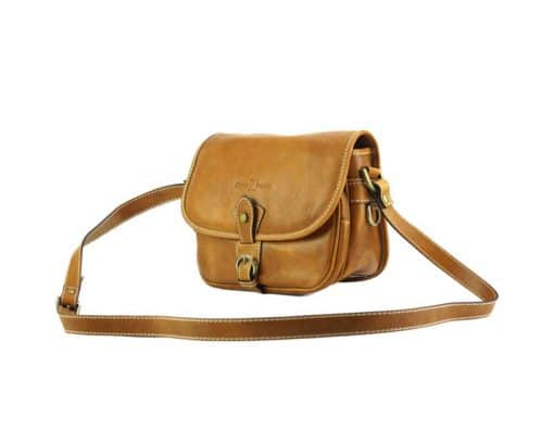 Eleonora leather Cross body bag tan colour new style for woman