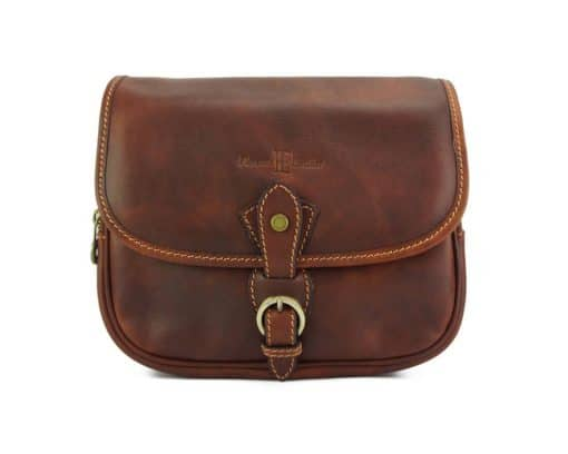 Eleonora leather Cross body bag brown for woman