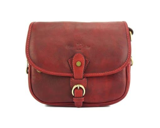 Eleonora leather Cross body bag red for woman