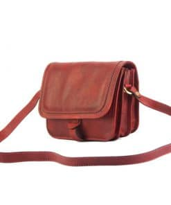Mariana genuine leather Cross body bag red colour last model new design for woman