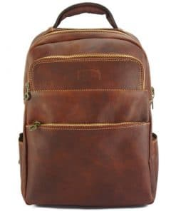 Constantino backpack in cow leather brown colour last model for men