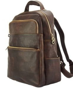 Constantino backpack in cow leather dark brown colour last model for man