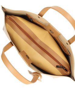 Ladies bag Casilda made of genuine leather tan for woman