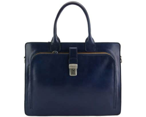 Giacomina leather business bag colour dark blue new style last model for woman