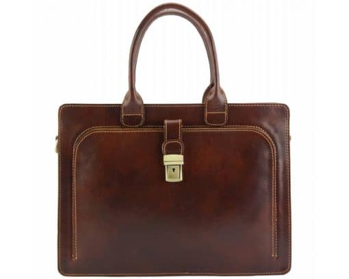 Giacomina leather business bag colour dark brown new style last model for woman