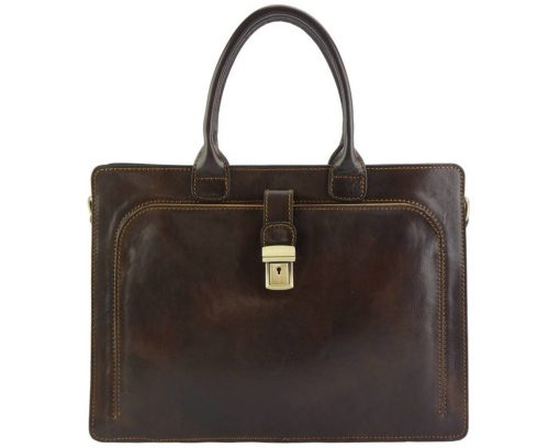 Giacomina leather business bag for woman