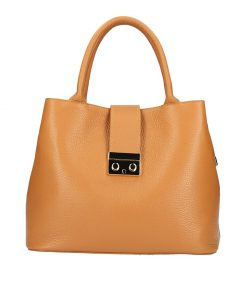 Women's handbag Alissa made of genuine leather tan from italy