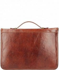 Cow leather document folder Ezio brown colour last model from italy new design for woman